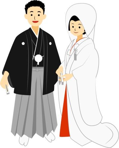 Japanese traditional wedding(white kimono)